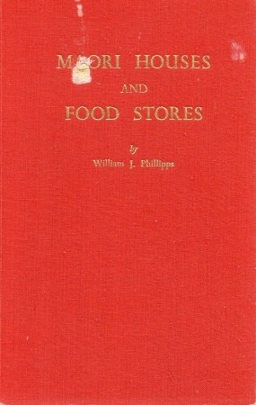 First  cover of 'MAORI HOUSES AND FOOD STORES.'