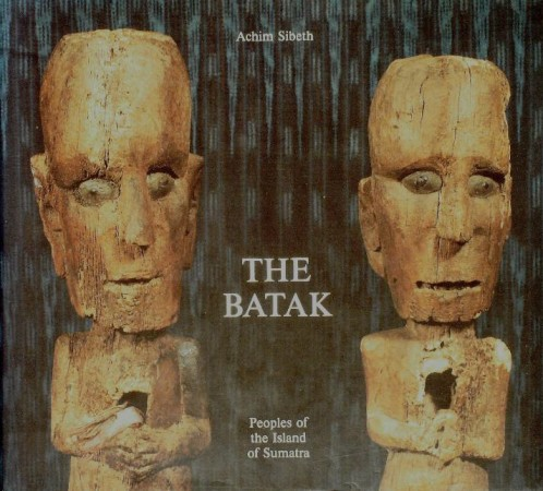 First  cover of 'THE BATAK. PEOPLES OF THE ISLAND OF SUMATRA.'