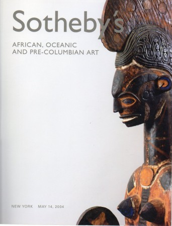First  cover of 'AFRICAN, OCEANIC AND PRE-COLUMBIAN ART. MAY 14, 2004.'