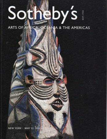 First  cover of 'ARTS OF AFRICA, OCEANIA AND THE AMERICAS. MAY 17, 2002.'