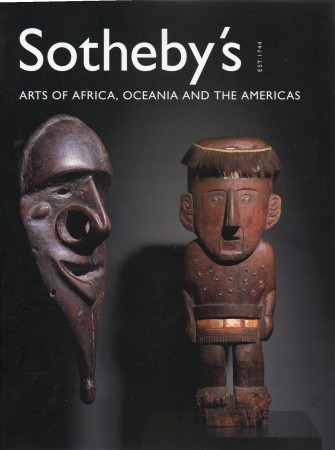 First  cover of 'ARTS OF AFRICA, OCEANIA AND THE AMERICAS. SATURDAY, MAY 19, 2001.'