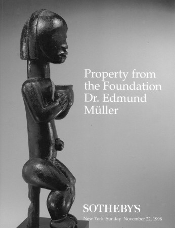 First  cover of 'PROPERTY FROM THE FOUNDATION DR. EDMUND MULLER. SUNDAY NOVEMBER 22, 1998.'