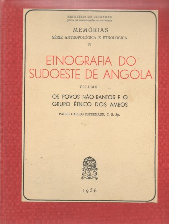 First  cover of 'ETNOGRAFIA DO SUDOESTE DE ANGOLA. 3 Vols.'