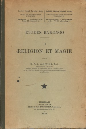 First  cover of 'ÉTUDES BAKONGO II: RELIGION ET MAGIE.'