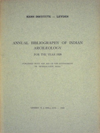 First  cover of 'ANNUAL BIBLIOGRAPHY OF INDIAN ARCHAEOLOGY. 1926 - 1957. 17 Vols.'