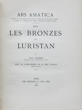 First  cover of 'LES BRONZES DU LURISTAN.'