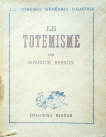 First  cover of 'LE TOTEMISME.'