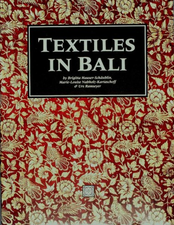 First  cover of 'TEXTILES IN BALI.'