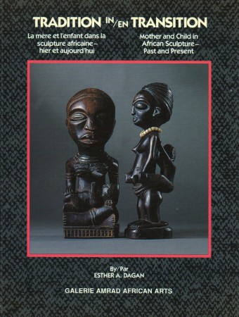 First  cover of 'TRADITION IN TRANSITION. MOTHER AND CHILD IN AFRICAN SCULPTURE-PAST AND PRESENT/'