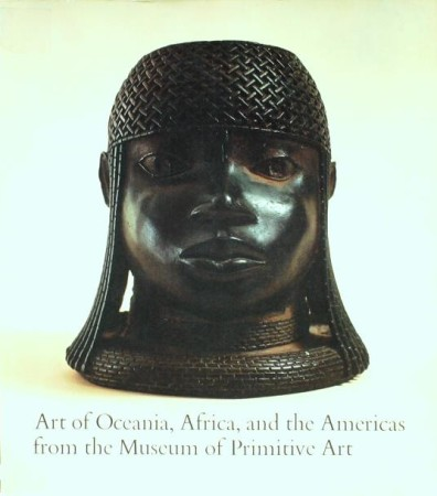 First  cover of 'ART OF OCEANIA, AFRICA, AND THE AMERICAS FROM THE MUSEUM OF PRIMITIVE ART.'