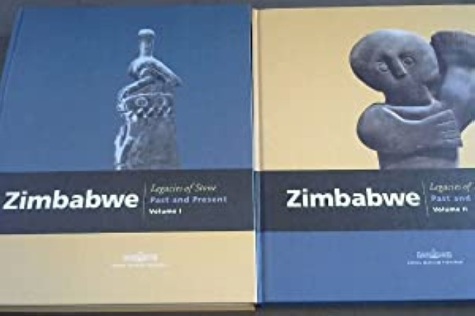 First  cover of 'ZIMBABWE. LEGACIES OF STONE: PAST AND PRESENT. 2 Vols.'