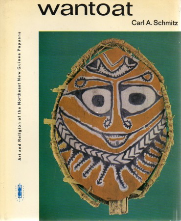 First  cover of 'WANTOAT. ART AND RELIGION OF THE NORTHEAST NEW GUINEA PAPUANS.'
