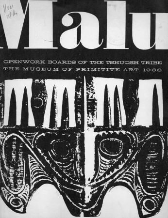 First  cover of 'MALU: OPENWORK BOARDS OF THE TSHUOSH TRIBE.'