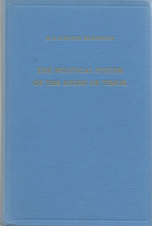 First  cover of 'THE POLITICAL SYSTEM OF THE ATONI OF TIMOR.'