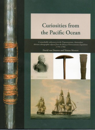 First  cover of 'CURIOSITIES FROM THE PACIFIC OCEAN. A REMARKABLE REDISCOVERY IN THE TROPENMUSEUM, AMSTERDAM: THIRTEEN ETHNOGRAPHIC OBJECTS FROM THE BRUNY D'ENTRECASTEAUX EXPEDITION. (1791-1794).'